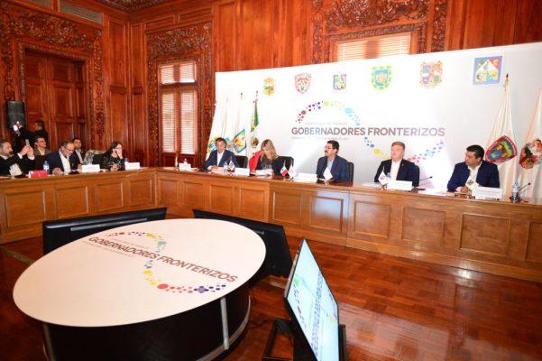 Arranca reunión de gobernadores fronterizos en Palacio de Gobierno