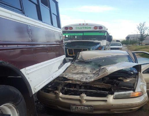 Aparatoso accidente en la Pacheco deja cuantiosos daños materiales