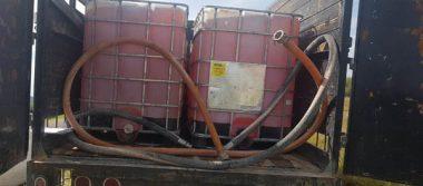 Abandonan camión con 6 mil litros de combustible robado