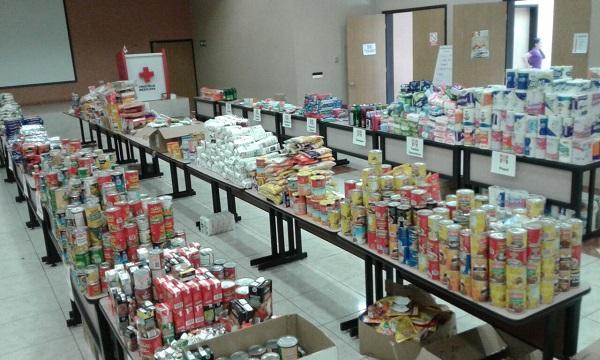 Continúa Cruz Roja recibiendo y empacando víveres para zonas afectadas por sismo
