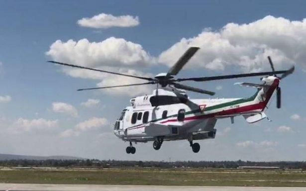 Enrique Peña Nieto sobrevuela el Valle de México tras sismo