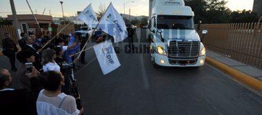 Encabeza Cinthia Chavira envió de 12 toneladas de apoyo