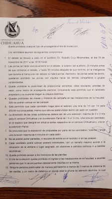 Denuncian alumnos de Derecho irregularidades en proceso electoral estudiantil