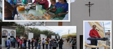 Celebran Kermés en honor a Santa Cecilia en Delicias