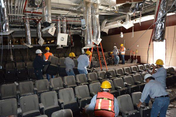Fuga de agua en la Ciudad Judicial destruye el auditorio