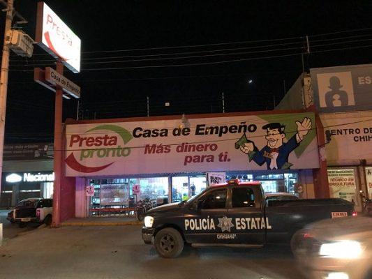 Roban $20 mil y mercancía en casa de empeño de la Juan Escutia