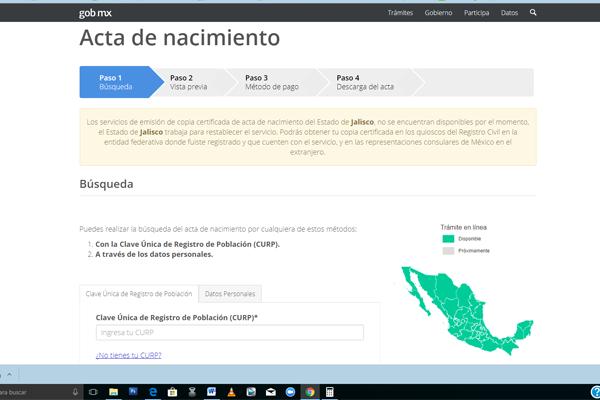 $624 actas de nacimiento por internet; en Chihuahua las más caras