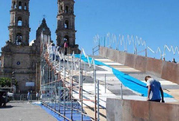 Instalarán tobogán con nieve artificial en el Centro; frente a Catedral