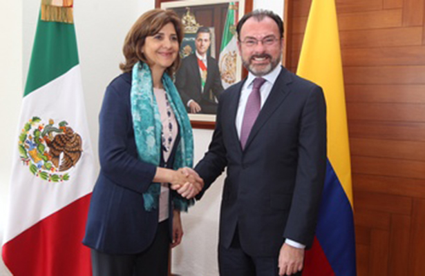 Encuentro bilateral México-Colombia