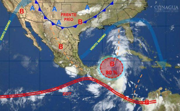 Prevén formación de ciclón tropical en el Golfo de México