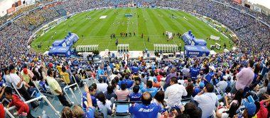 El Estadio Azul, inmueble que este sábado cierra sus puertas al futbol