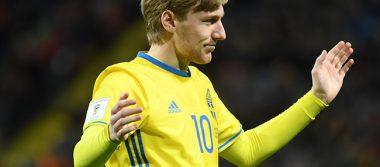 Suecia golea a Bielorrusia 4-0