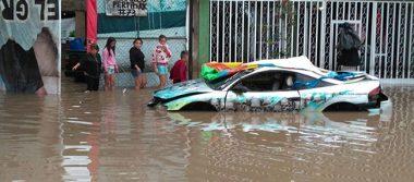 Lluvia dejó severas inundaciones en Tonalá