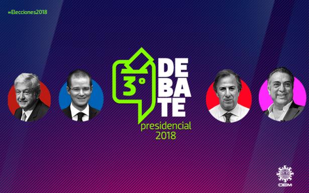 Hoy el tercer debate presidencial 2018 desde Mérida, Yucatan