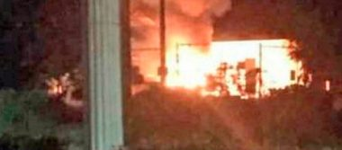 Explota pipa de gas en Balancán