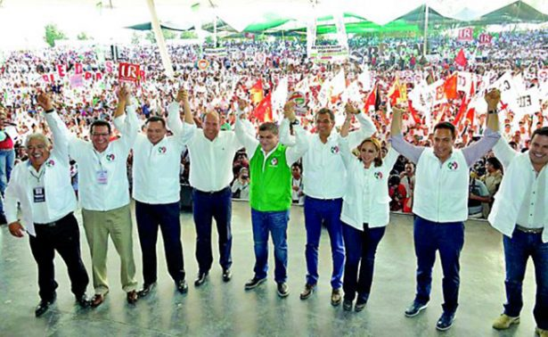 Rinde Riquelme Solís protesta como candidato del PRI al gobierno de Coahuila