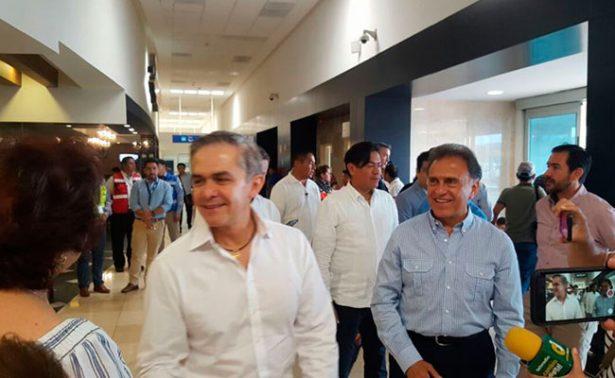 Mancera evita hablar sobre posible alianza con López Obrador y Morena