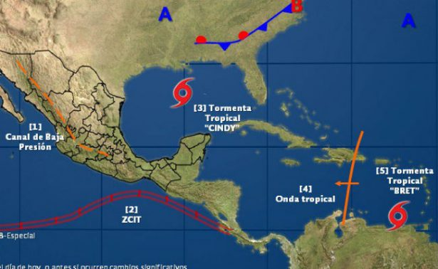 "Se forma la tercera tormenta tropical ""Cindy"" sobre el norte de Yucatán"