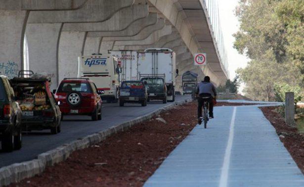 Autopista México-Puebla se queda sin ciclovía para poder ser ampliada
