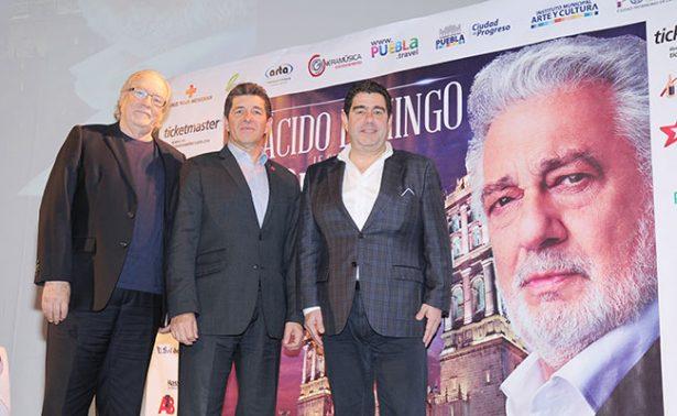 Plácido Domingo  le cantará  a Puebla