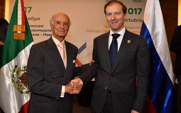 Quiere Rusia aumentar relación comercial con México