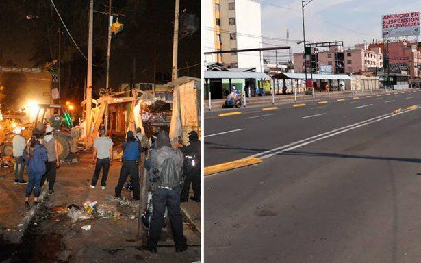 Eje 1 Norte libre de ambulantes: retiran puestos de Tepito