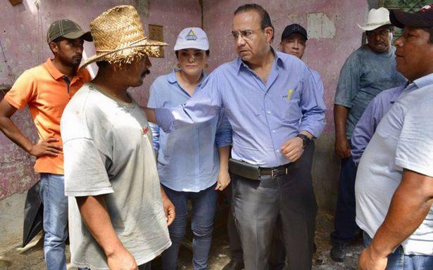 Navarrete Prida encabeza recorrido en zonas afectadas de Chiapas