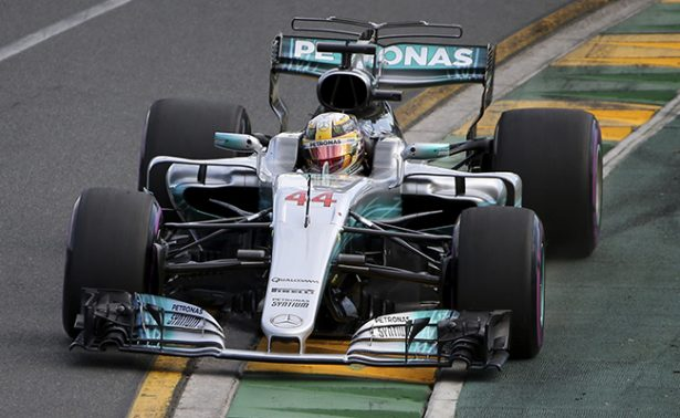 Lewis Hamilton se estrenó en la temporada 2017
