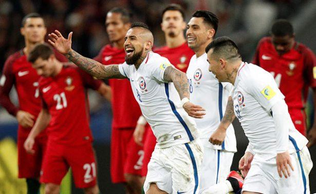 Chile, primer finalista de Confederaciones al imponerse a Portugal