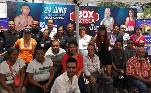 """""""La """"Güerita"""" Sánchez y Joselyn """"Princesa Tapatía"""" en labor social"""