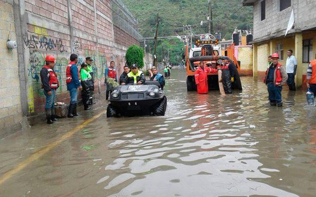 Más de 300 viviendas afectadas por lluvias en Cuautitlán Izcalli