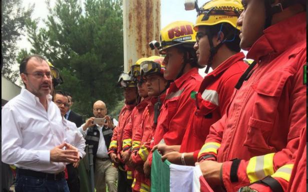 Videgaray agradece a brigadistas internacionales apoyo en emergencia