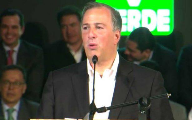 'Juntos lo vamos a lograr', Meade firma su adhesión a plataforma del Partido Verde