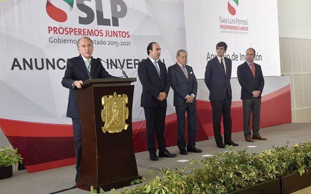 Invertirán en San Luis Potosí más de 12 mil millones de pesos