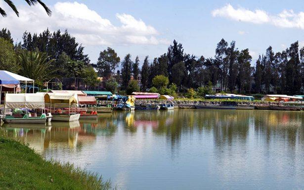 El lago artificial se está secando en el Bosque de Tláhuac