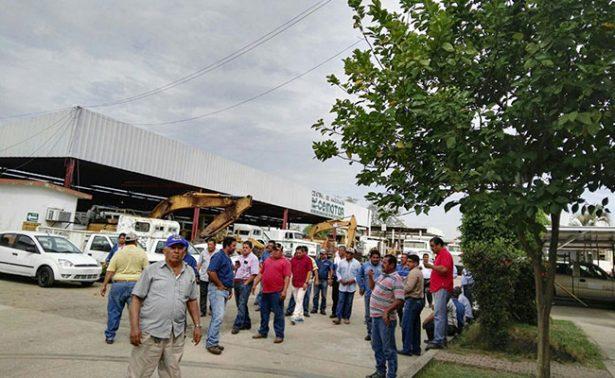 Paran labores en Central  de Maquinarias de Tabasco