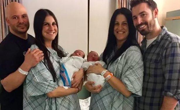 Hermanas gemelas dan a luz a varones el mismo día