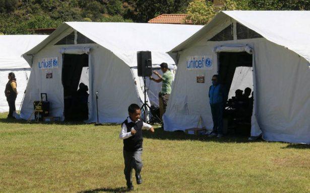 Unicef entrega aulas móviles en beneficio de estudiantes morelenses