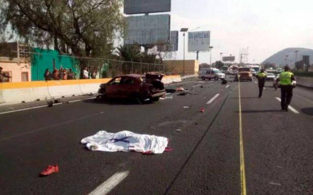 Hombre muere al impactar su automóvil en la México-Pachuca