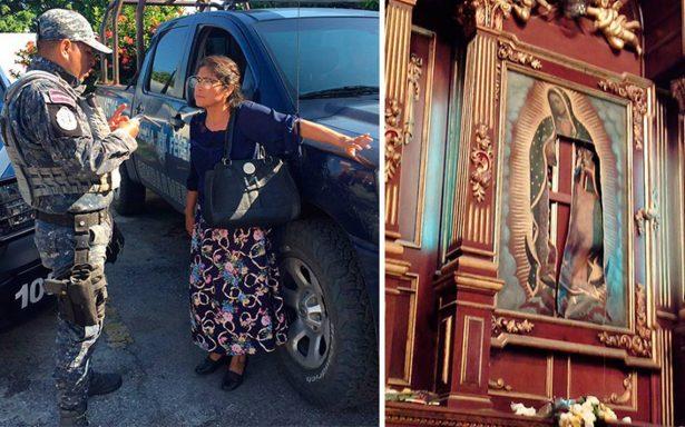 Mujer 'poseída' es llevada a psiquiátrico por dañar imagen de la virgen