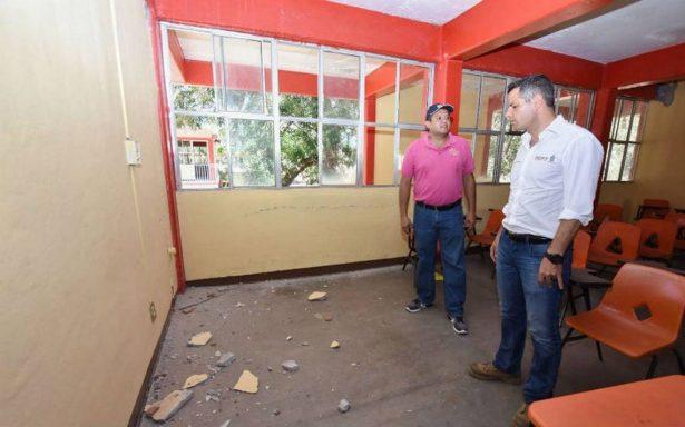 Suspenden clases en municipios afectados por el sismo en Oaxaca