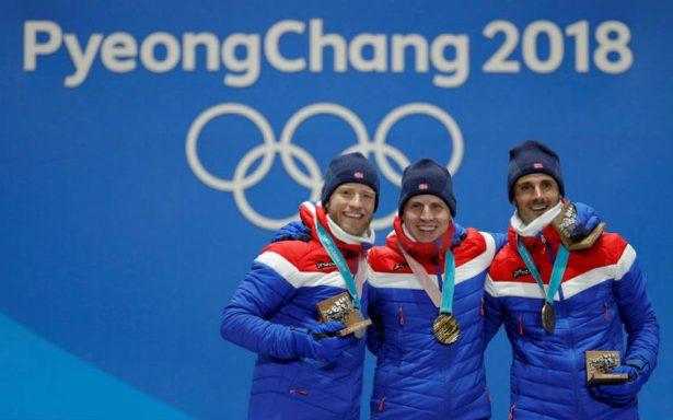 Noruega lidera medallero en Juegos Olímpicos de Invierno