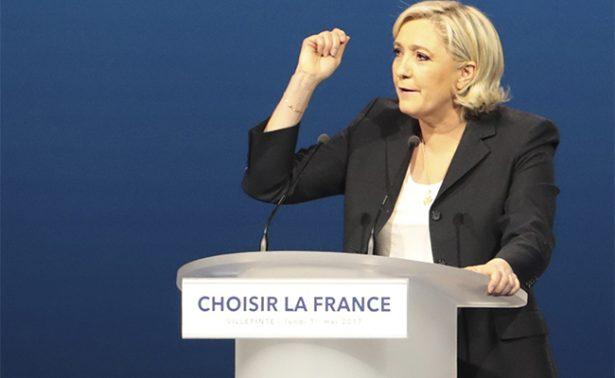 La candidata del FN,Marine Le Pen, en ridículo por plagio