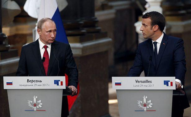 """Macron apostó fuerte en su reunión con Putin: marcó una """"línea roja"""" sobre uso de armas químicas en Siria"""