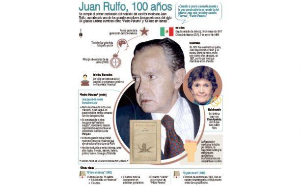 """Se cumplen 100 años del natalicio del creador de """"Pedro Páramo"""""""