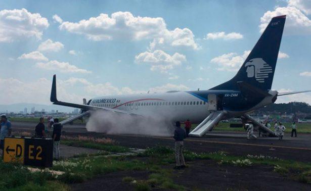 Cancelan despegue de avión de Aeroméxico por ponchadura de llanta
