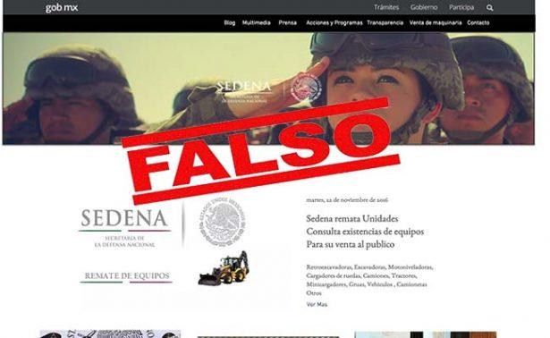 Cae hombre que defraudaba con portales falsos de la Sedena