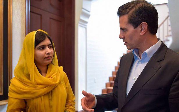 Peña Nieto y Malala comparten estrategias a favor de la niñez
