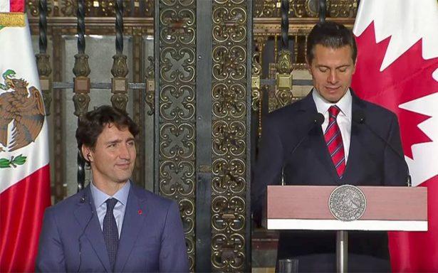'Viva México, viva Canadá' clama Trudeau en cena de honor con Peña Nieto