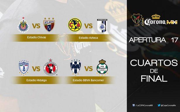 Definen los horarios para la Copa MX